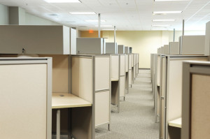 60215496 - empty cubicles inside office building, place of work
